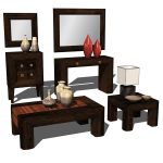 Etnochic Living Room Set 01. Set contains the Coff...