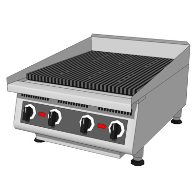 Commercial Kitchen Char Broiler. Modeled after Sta....