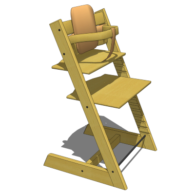 Stokke tripp trapp highchair 3d model formfonts 3d for Cinture stokke tripp trapp
