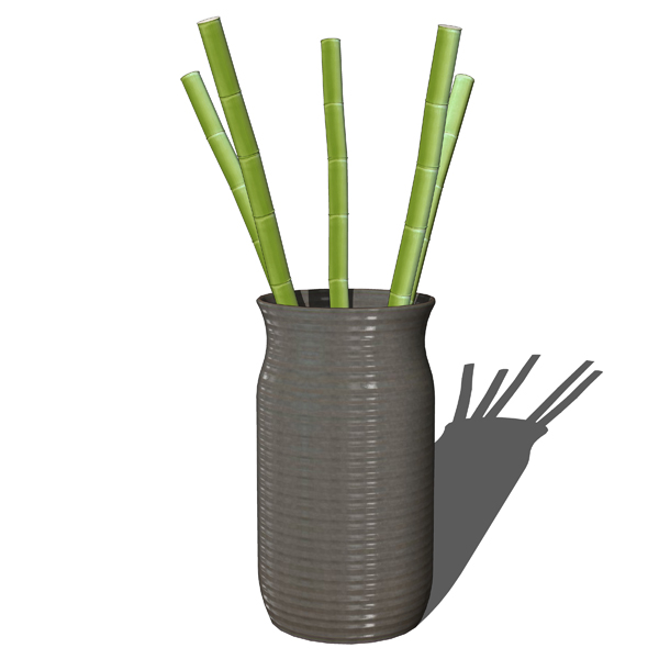 Vase With Bamboo Sticks ~ Decorative bamboo in vases d model formfonts models