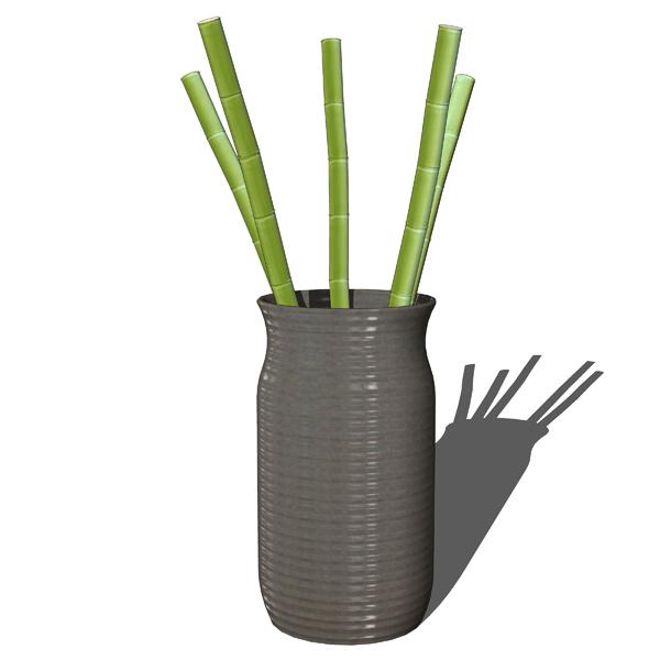 Decorative Bamboo In Vases 3d Model Formfonts 3d Models Textures