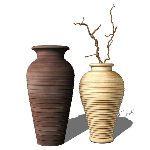 Photoreal ceramic vases collection. Products can b....