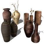 Photoreal ceramic vases collection. Products can b...