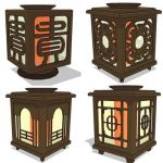 Collection of oriental table lamps