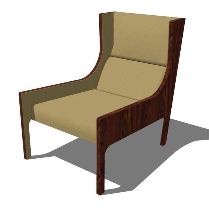 Bergere Chair 3d Model Formfonts 3d Models Textures