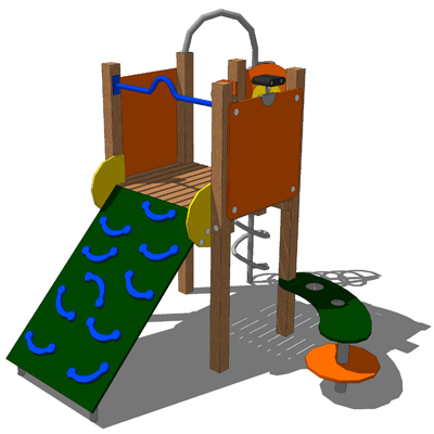 Model based on the Kompan Lofty Playstructure..