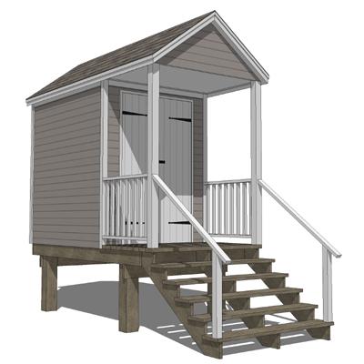 Beach hut 3d model formfonts 3d models textures for Model beach huts