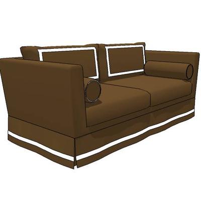 Delicieux Plantation Sofa 3D Model