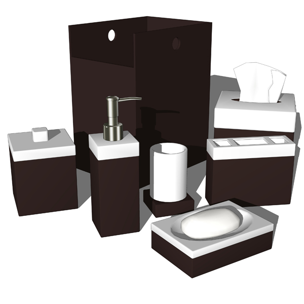 Four different bathroom sets. Elite Home Fashions ....