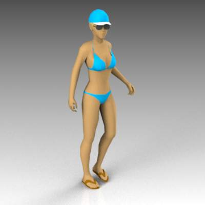 Female figure for pool or beach 