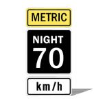 US Night Speed Limit, metric version; 24