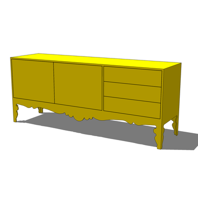 Ikea trollsta sideboard 3d model formfonts 3d models for Pine sideboard ikea