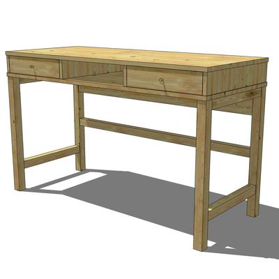 ikea linnarp desk 3d model formfonts 3d models textures