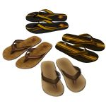 Men's thong sandals in four designs.