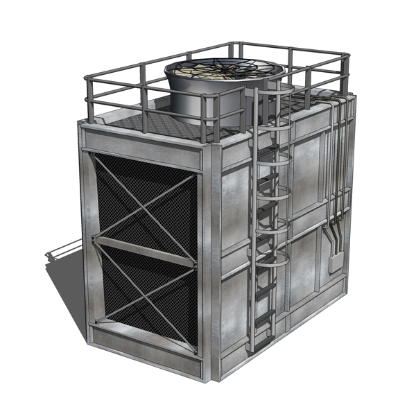 Cooling Tower Model Cooling Towers 3d Model
