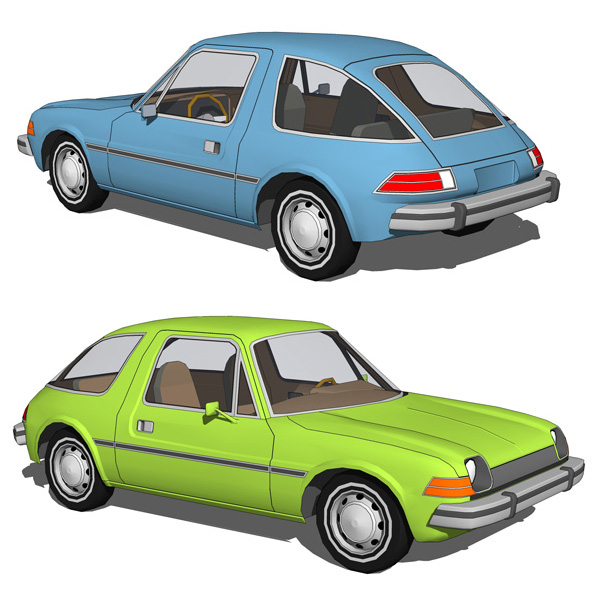 The famous Pacer was a two-door compact automobile....