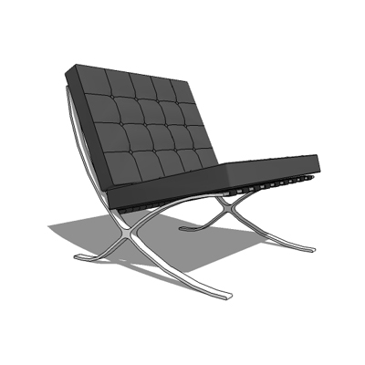 Barcelona Chair, by Ludwig Mies van de Rohe (1927).