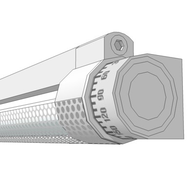 VODE BEE Rail Fixture with Half Perforated Lens in....