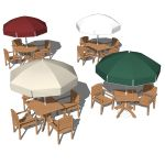 Grosfillex outdoor sets. Sets include the Acadia c...