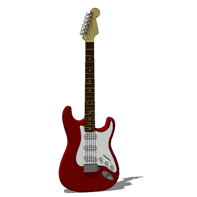 Stratocaster electric guitar (low poly).
