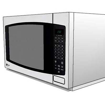 Assorted table top microwave oven.