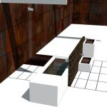 Essence Spa, a minimal bathroom/spa based on corte...