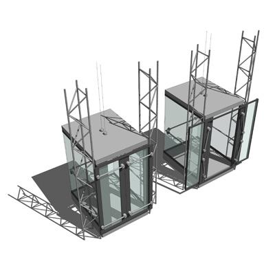 Glass Construction Elements 3D Model - FormFonts 3D Models