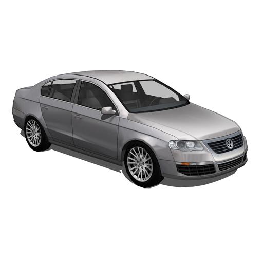 Volkswagen passat 3d model formfonts 3d models & textures.