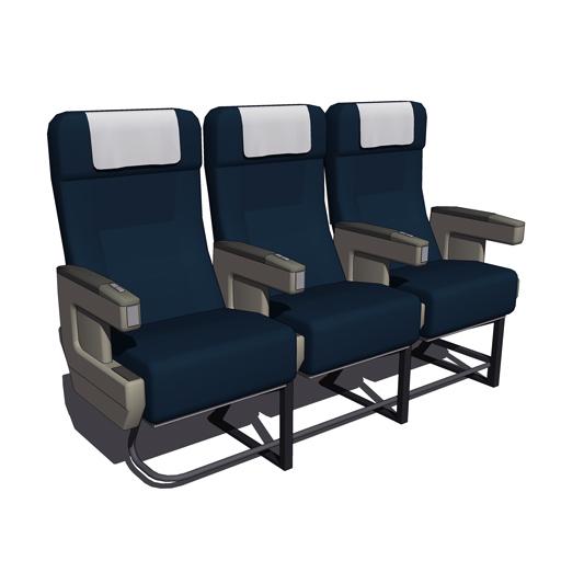 Boeing 737 Seats 3d Model Formfonts 3d Models Amp Textures