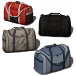 Set of four duffle bags.