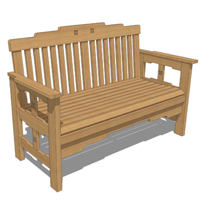 greene and greene garden furniture 3d model