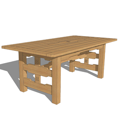 greene and greene garden furniture 3d model - Garden Furniture 3d Model