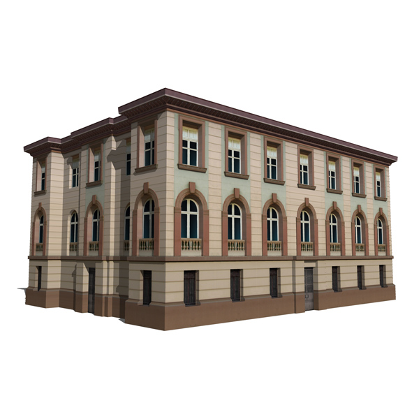 Real Classic Buildings 2 3d Model Formfonts 3d Models