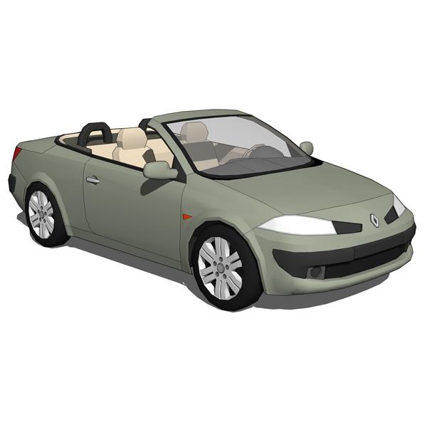 Renault Megane II CC 3D Model - FormFonts 3D Models & Textures
