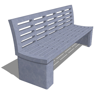 Wausau Tile metal bench set..