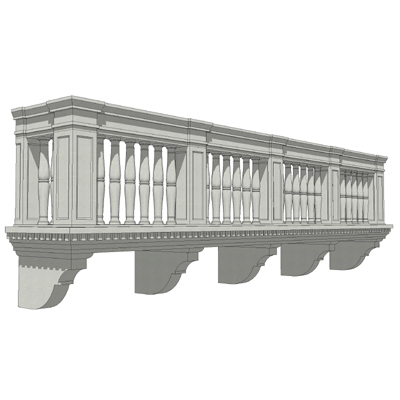 Balcony set 3 3d model formfonts 3d models textures for Balcony models