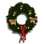 High Resolution Christmas Wreath