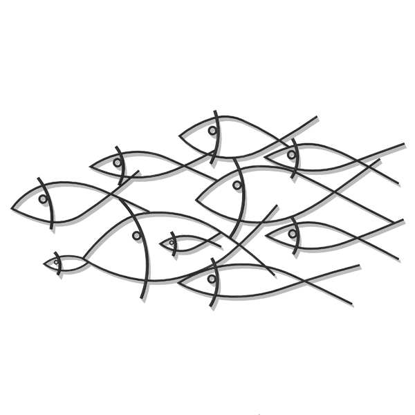 Wrought Iron 3d Wall Art. Great For Decorating Bla.