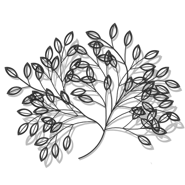 Wrought iron 3d wall art great for decorating bla