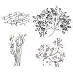 Wrought iron 3d wall art. Great for decorating bla...