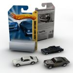 Three 1/87 scale Diecast toy cars and one generic ...