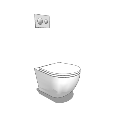 39 white 39 wall hung wc 3d model formfonts 3d models textures - Wc model ...