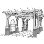 Large pergola in different configurations. Pergola...