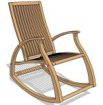 Aria teak rocking chair is beautiful to look at an...