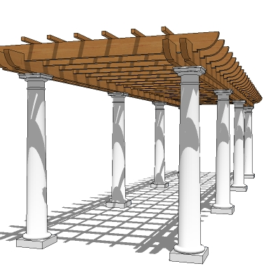 Description: Pergola for walk or pathway. Approx 20' / 6m long