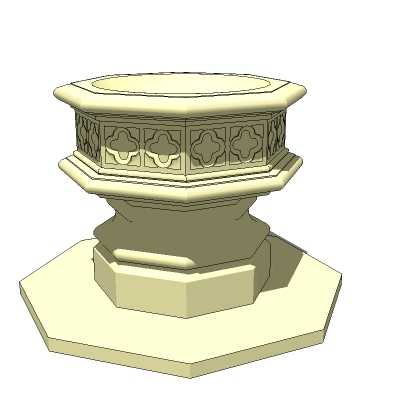 Gothic Fountain 3D Model - FormFonts 3D Models & Textures