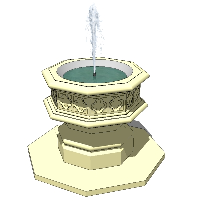 gothic fountain 3d model   formfonts 3d models amp textures