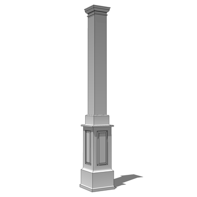 Square panelled columns 3d model formfonts 3d models for Tuscan columns
