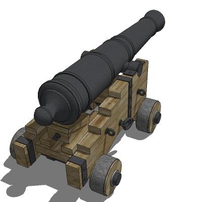 Naval Cannon 3d Model Formfonts 3d Models Amp Textures