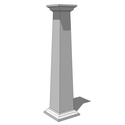 Square tapered crown column 3d model formfonts 3d models for Tapered columns
